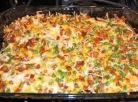 Loaded baked potato chicken casserole