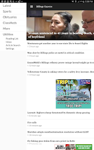 Billings Gazette- screenshot thumbnail
