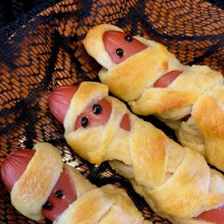 Halloween Mortified Mummy Dogs