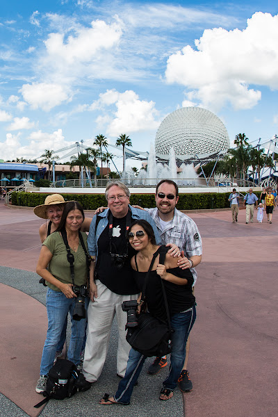 Photo: Oh Happy Day!  I had such a blast at Epcot yesterday with a group of good friends/photographers. We ate, drank, laughed, ran for cover from a downpour, and shot all up and down the park.  Once again, a special thanks to +Keith Barrettfor being the generous and amiable person that he is. And thanks to +Kathy Porupski, +Gilmar Smithand +Barb Cochranfor being such excellent company.