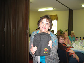 Photo: dy Alverson wins a Disciples Bible cover.