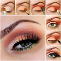Eye makeup step by step easy icon