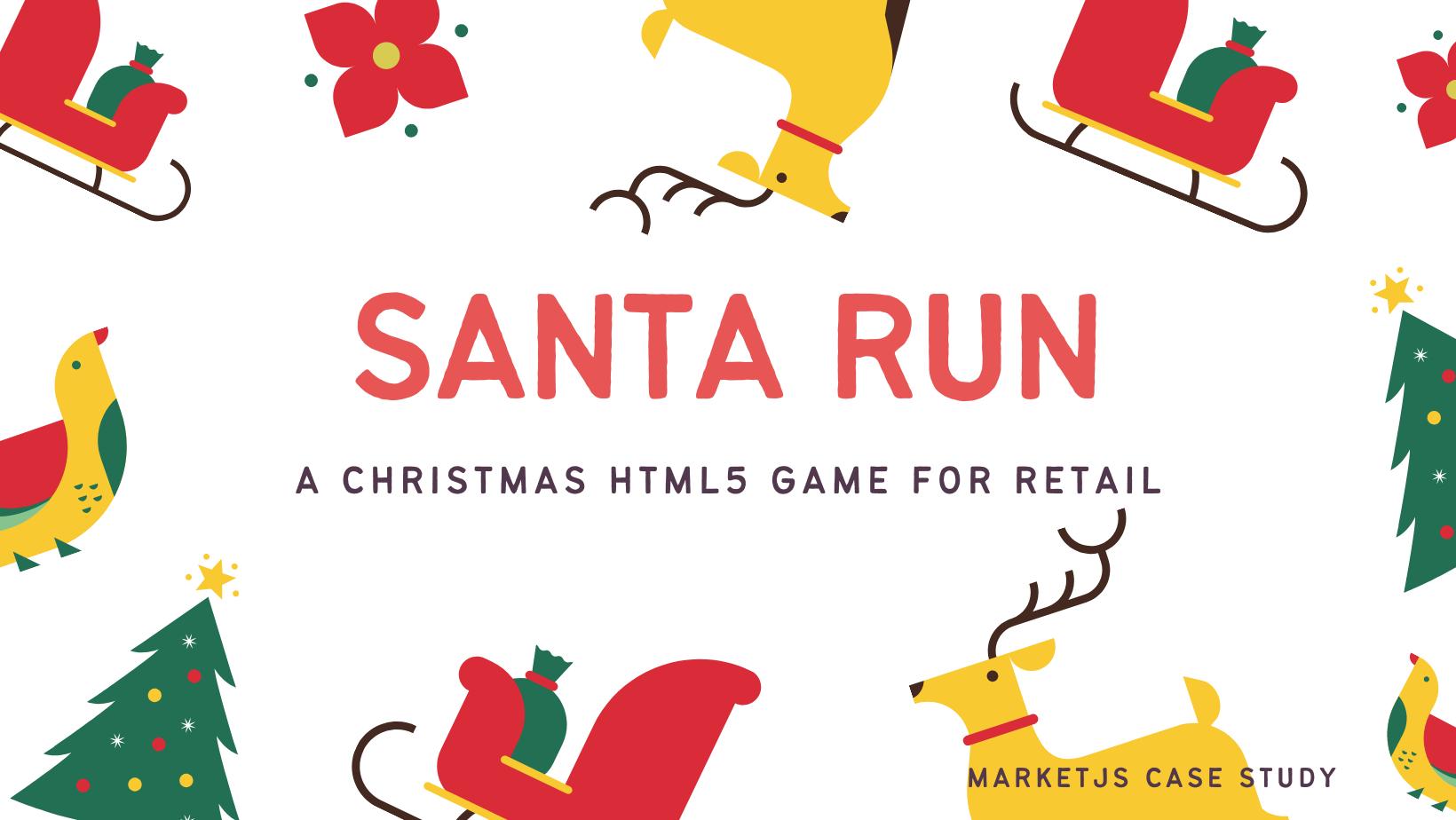 Santa Run A Christmas HTML5 Game For Retail