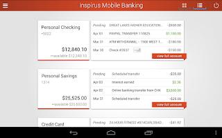 Screenshot of Inspirus Credit Union
