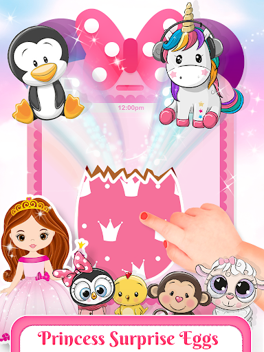 Pink Little Talking Princess Baby Phone Kids Game screenshot 3