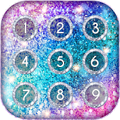 Glitter Keypad Lock Screen