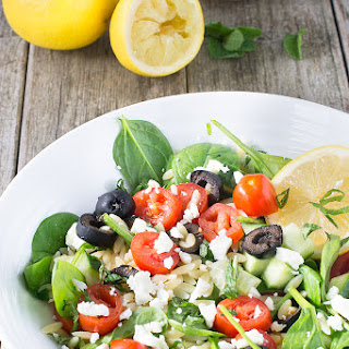 Orzo Pasta Salad With Spinach And Feta Recipes