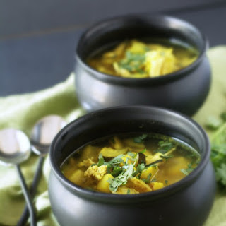 Chicken Turmeric Vegetable Soup.