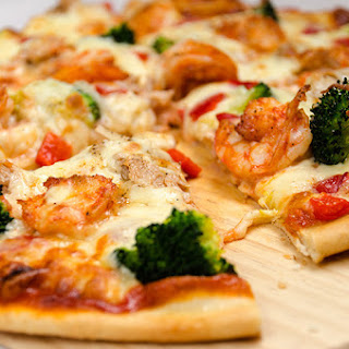 Quick Pizza Dough and Easy Seafood Pizza