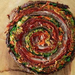 Muffaletta Pinwheel Steaks and Roasted Broccoli