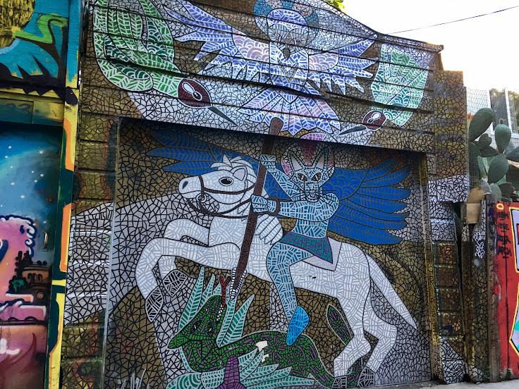 Mike Kershnar's mural of St. George.