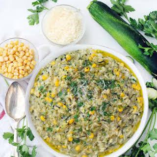 Sweet Corn and Zucchini Risotto.