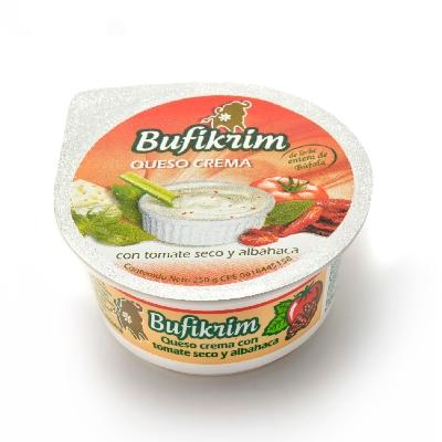 queso crema bufikrim tomate con albahaca 250gr
