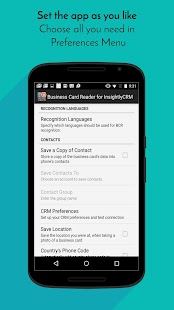 Business Card Reader for Insightly CRM- screenshot thumbnail