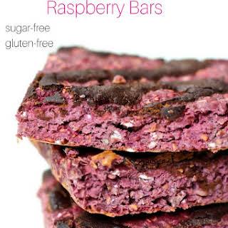 Sugar-Free Dark Chocolate Raspberry Bars.