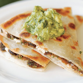 Black Bean & Goat Cheese Quesadillas with Guacamole