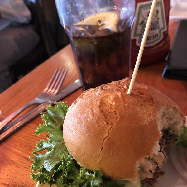 Hamburger...I couldn't wait I started eating.