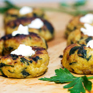 Mini Spinach Potato Knish Appetizer.