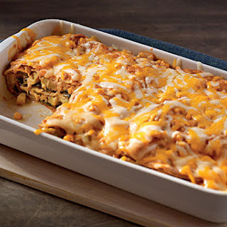 Creamy Chayote & Corn Enchiladas
