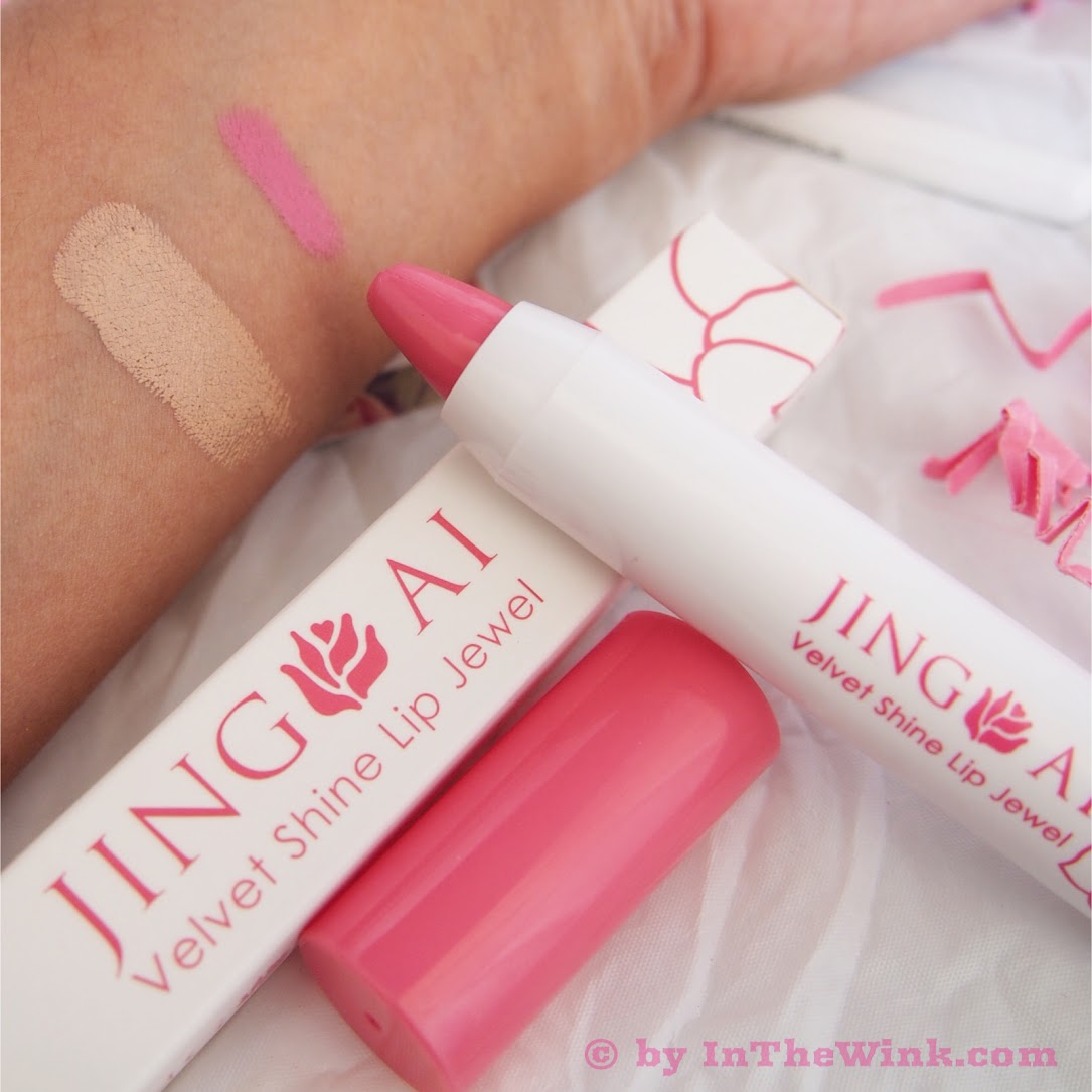 "Jing Ai Velvet Shine Lip Jewel in ""Pink A Boo"""