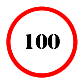 Speed limit (circle) Battery