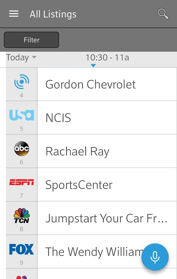 XFINITY TV Remote- screenshot