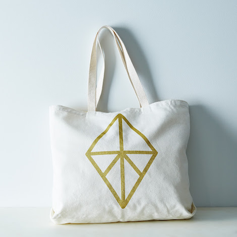 Graphic Diamond Market Bag