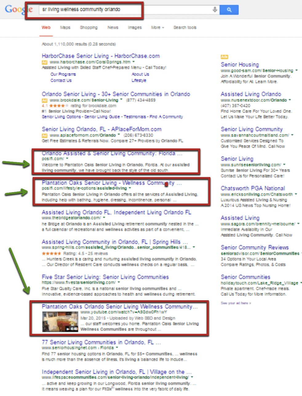 Google Results 3 listings on single search