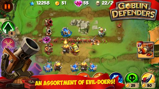 TD: Goblin Defenders - Towers Rush PRO game for Android screenshot