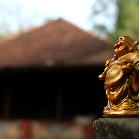 peace by Arjun Madhav - Artistic Objects Antiques ( laughing budha, nature, old home, peace, antique,  )