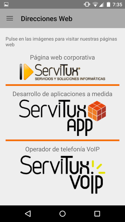 ServiTux App- screenshot