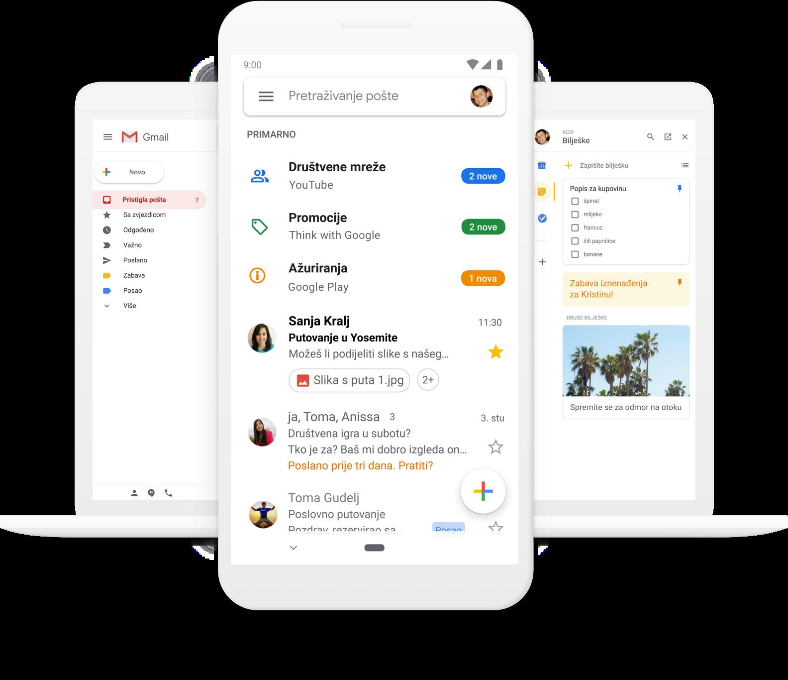 Gmail - Googleova besplatna pohrana i e-pošta
