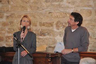 Photo: Le Dr. Artières (ORL, Institut Saint Pierre) et José Zirah