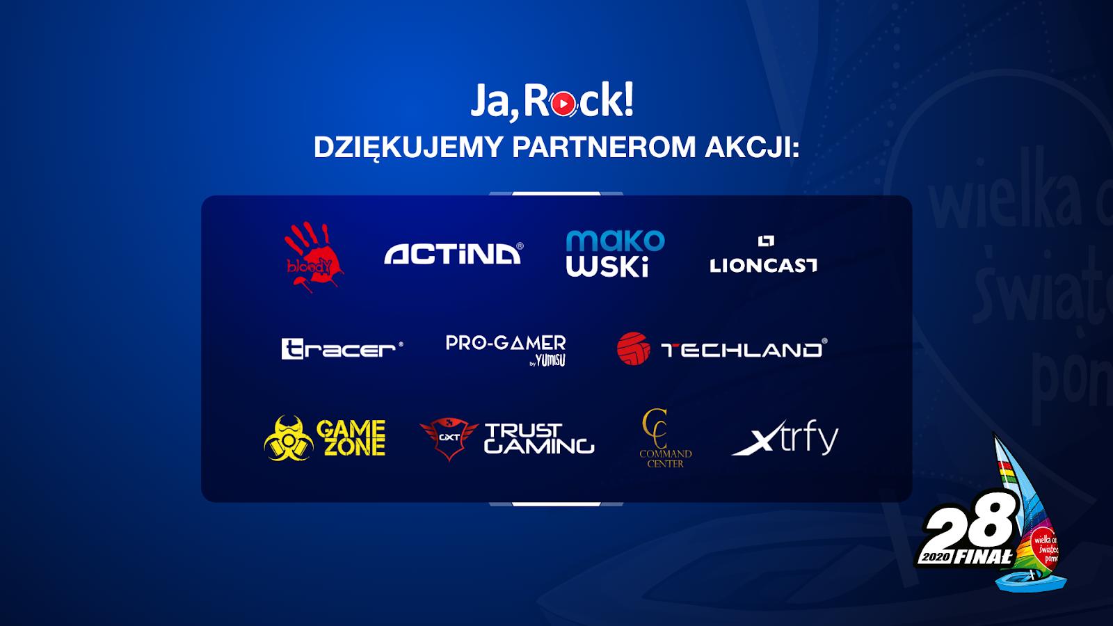 JaRock WOŚP partnerzy