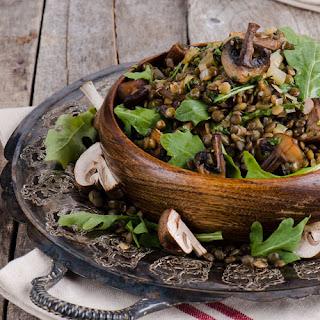 Warm Mushroom and du Puy Lentil Salad