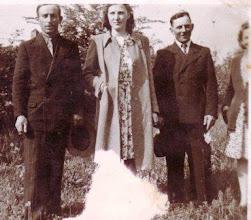 Photo: Nagy Imre, Szabó Malvin, Bödők Vilmos, Bödők Etelka(Istváné) 1950-
