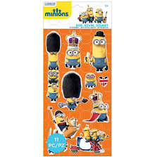 EK Success Minions Mini Flat Stickers - British Invasion