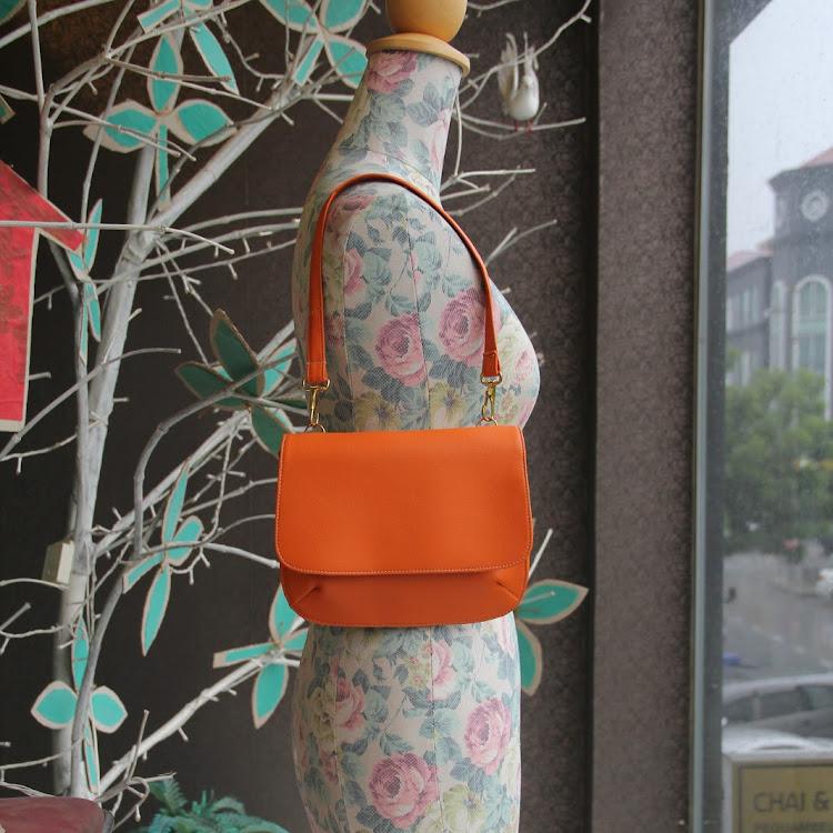 Orange Sling Bag by Le Tea Boutique