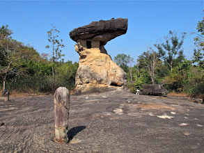 Photo: rock formation used by pre-historic people in Phu Phra Baat Historical Park