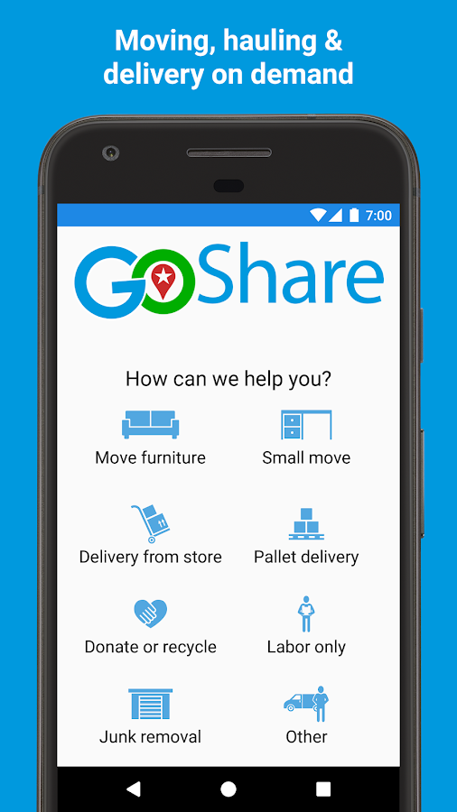 GoShare - Move, Haul, Deliver- screenshot