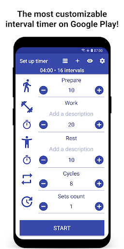 Tabata Timer: Interval Timer Workout Timer HIIT screenshot 1