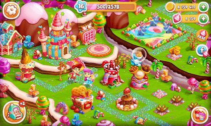 Candy Farm: Magic cake town & cookie dragon story APK Download com