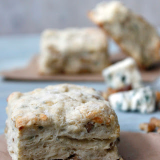 Walnut And Blue Cheese Biscuits.