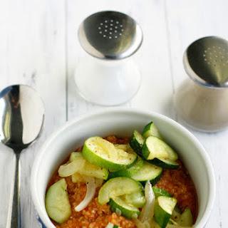 Tomato Quinoa with Zucchini and Onions..