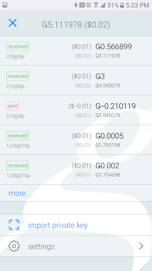 groestlwallet- screenshot