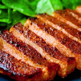 Cocoa & Chili Rubbed Pork Chops.