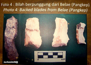 Photo: Bilah (alat pemotong) dari batu, ditemukan di Belae, Pangkajenne dan Kepulauan (Pangkep). Koleksi Museum La Galigo, Makassar. http://nurkasim49.blogspot.com