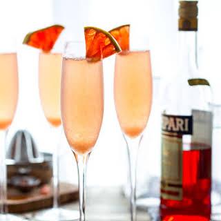 Grapefruit Champagne Cocktail.