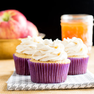 Apple Cider Cupcakes with Cinnamon Whipped Cream