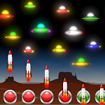 Neon UFO Invaders from Space icon
